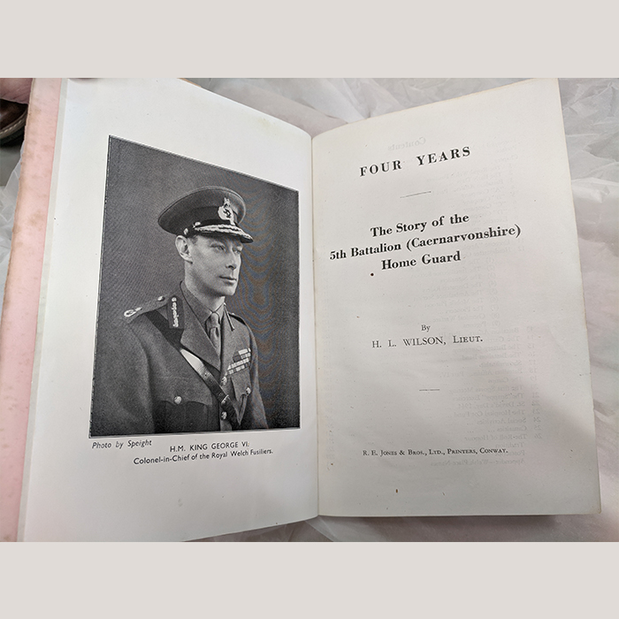 WW2 Book Four Years, The Story of the 5th Battalion Caernarvonshire Home Guard