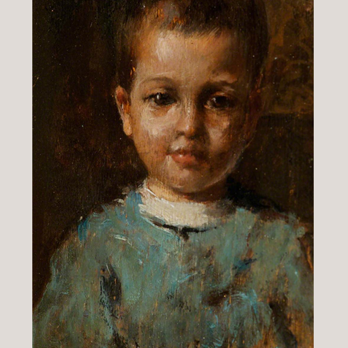 Study of a Child by Nicola Biondi (1866–1929)