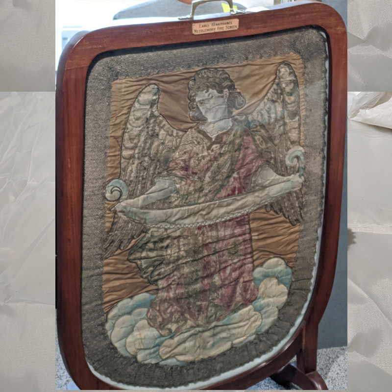 Early Renaissance French Needlepoint Fire Screen