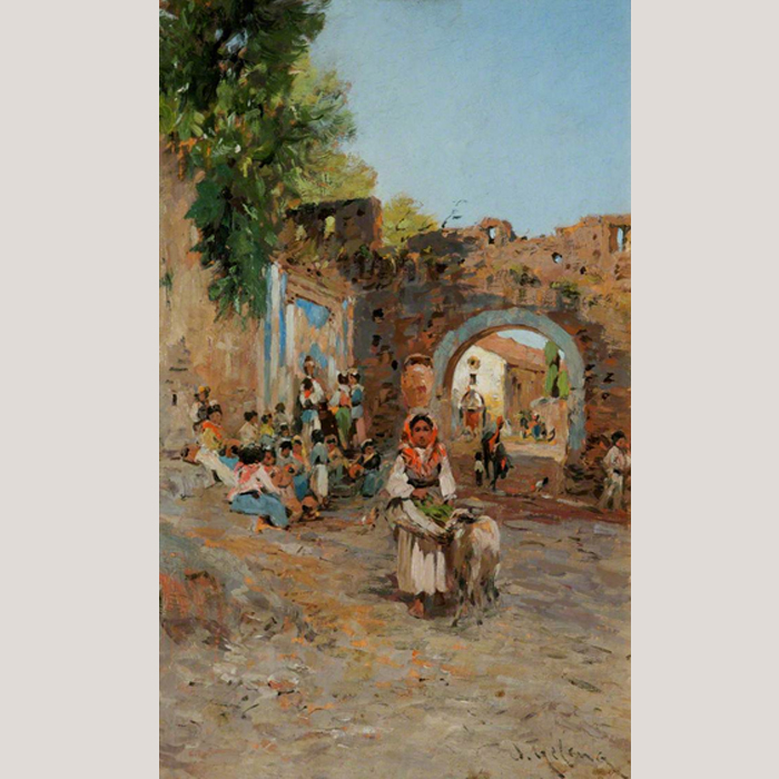 A Scene in Italy by Otto Friedrich Geleng (1843–1939)