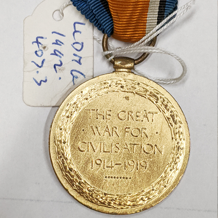 WW1 Victory Medal - Back